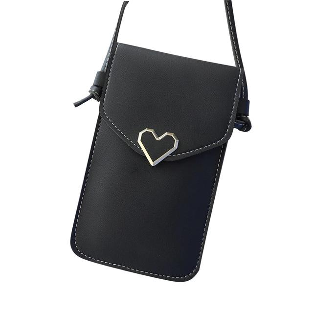 Touch Screen Leather Crossbody Smartphone Bag