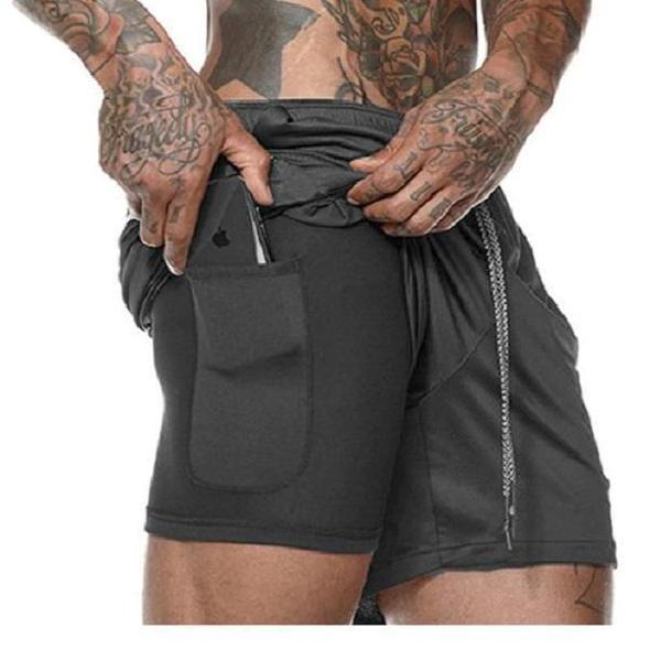 Shopedian Black / XXL / United States Men's Multifunctional New Secure Pocket Fitness Shorts