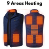Shopedian blue / 2XL Unisex Warming Heated Vest Jacket