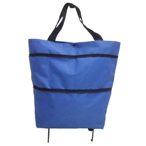 Shopedian Blue / United States Foldable Shopping Trolley Tote Bag