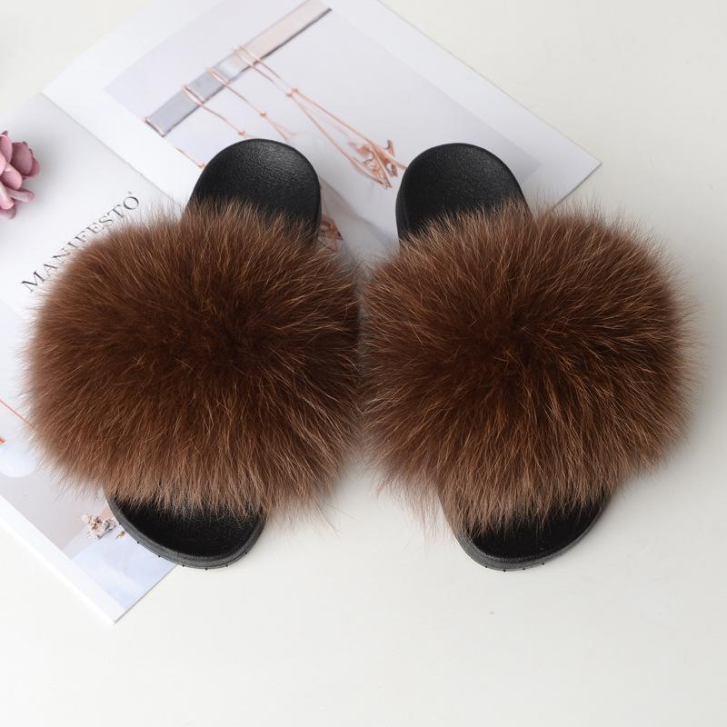 Shopedian Brown / 36-37 (25cm) The Gorgeous Ladies Fluffy Slides? Limited Stock!