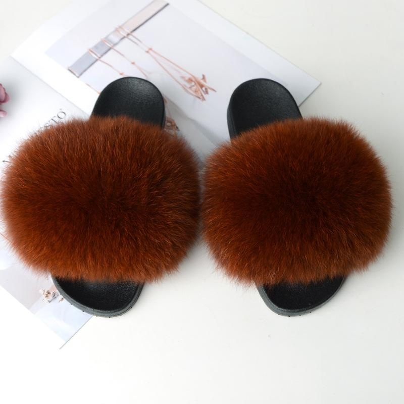 Shopedian caramel colour / 36-37 (25cm) The Gorgeous Ladies Fluffy Slides? Limited Stock!