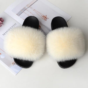 Shopedian creamy-white / 36-37 (25cm) The Gorgeous Ladies Fluffy Slides? Limited Stock!