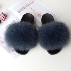 Shopedian Dark gray / 36-37 (25cm) The Gorgeous Ladies Fluffy Slides? Limited Stock!
