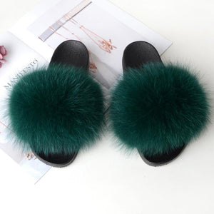 Shopedian Dark green / 36-37 (25cm) The Gorgeous Ladies Fluffy Slides? Limited Stock!