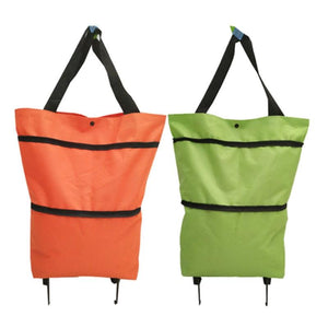 Shopedian Foldable Shopping Trolley Tote Bag
