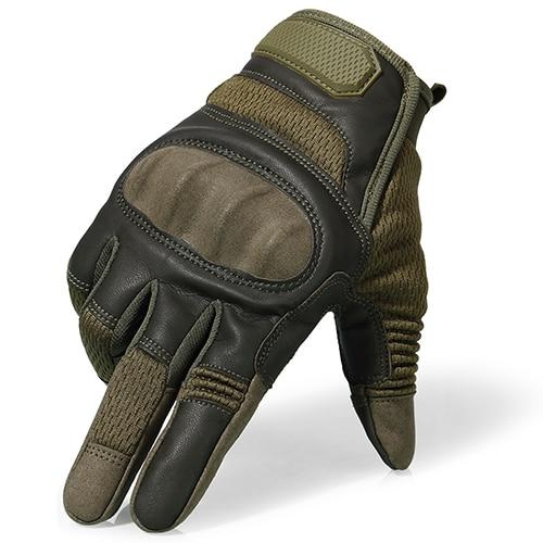 Shopedian Full Finger Green / L Indestructible Hard Knuckle Tactical Gloves