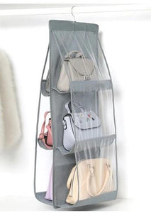 Shopedian Gray / China 6 Pocket Hanging Handbag Organizer