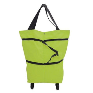 Shopedian Green / United States Foldable Shopping Trolley Tote Bag