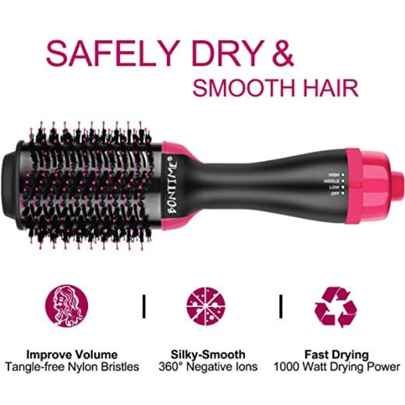 Shopedian Hair Dryer & Volumizer Hot Air Brush- Free Shipping