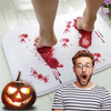 Shopedian Home & Office White Halloween Bloody Color Changing Bath Mat