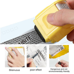 Shopedian Identity Theft Protection Roller Stamp