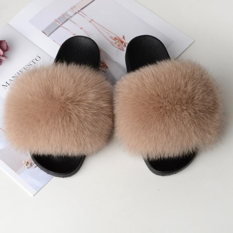 Shopedian Khaki / 36-37 (25cm) The Gorgeous Ladies Fluffy Slides? Limited Stock!