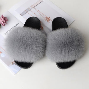 Shopedian light grey / 36-37 (25cm) The Gorgeous Ladies Fluffy Slides? Limited Stock!