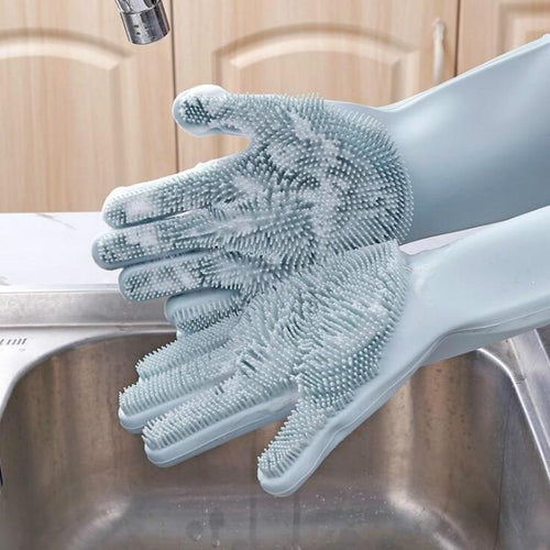 Shopedian Magic Silicone Dish Washing Gloves