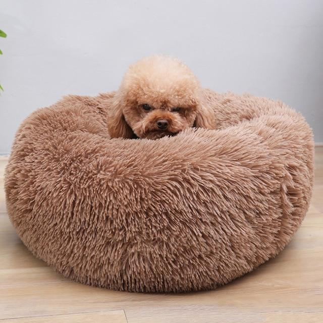 Shopedian Pet Brown / 50cm Soothing PetBed (Anti-anxiety Bed for Cats and Dogs)