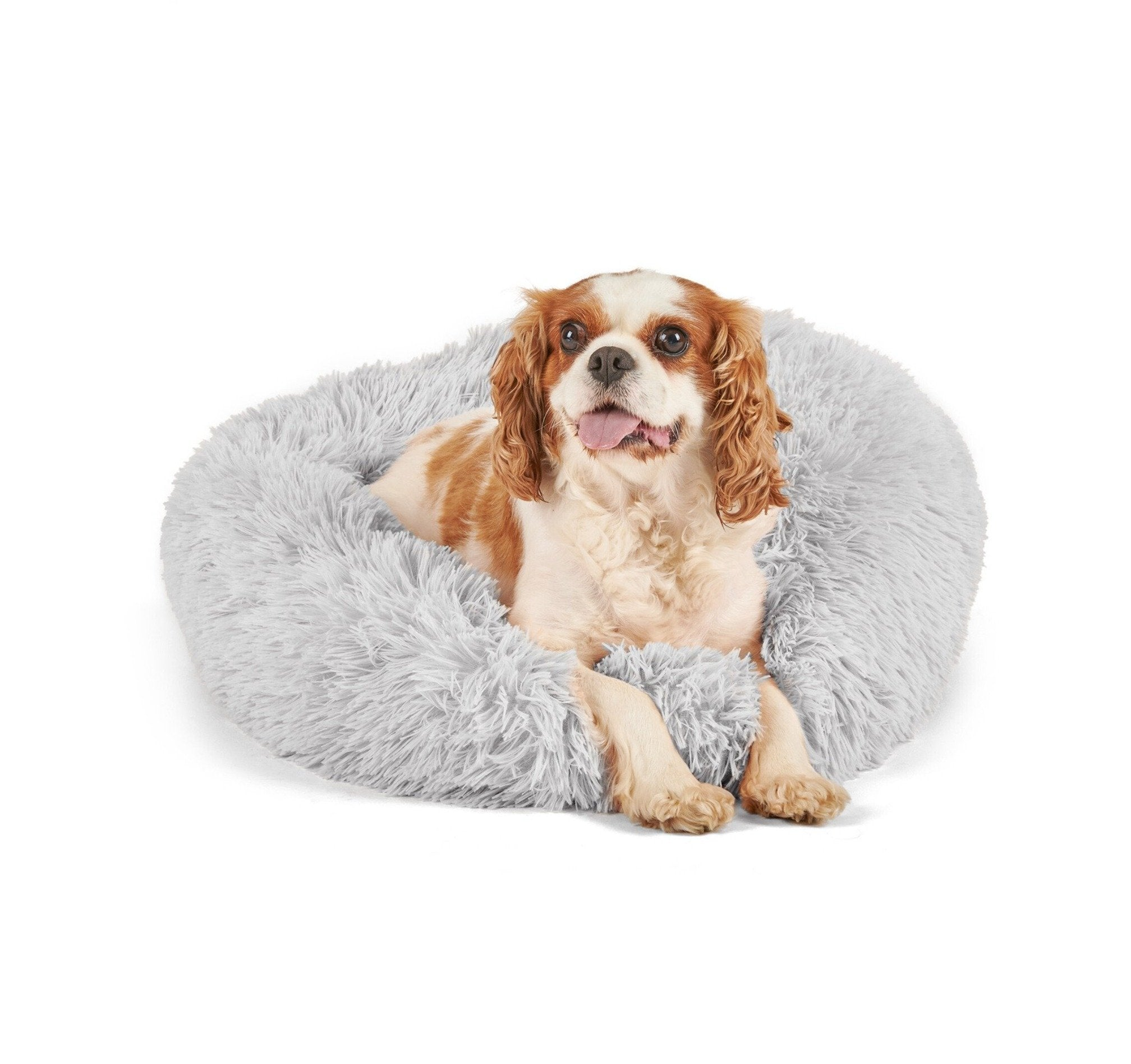 Shopedian Pet Light grey / 50cm Soothing PetBed (Anti-anxiety Bed for Cats and Dogs)