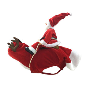 Shopedian Pet Red / S Christmas Santa Claus Dog Costume