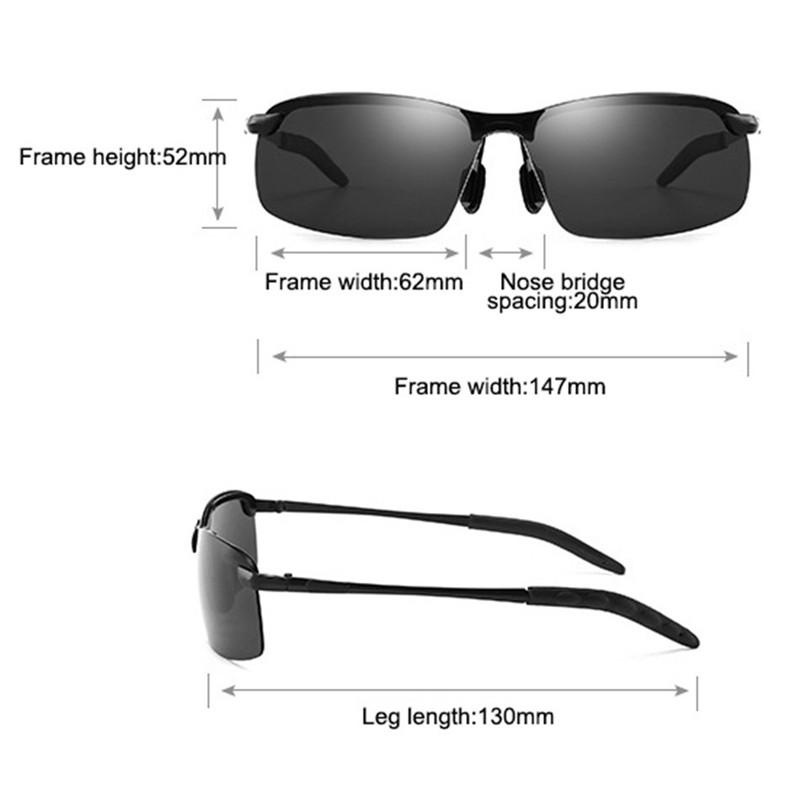 Shopedian Photochromic Sunglasses With Polarized Lens - Perfect For Fisherman