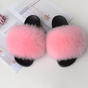 Shopedian Pink / 36-37 (25cm) The Gorgeous Ladies Fluffy Slides? Limited Stock!
