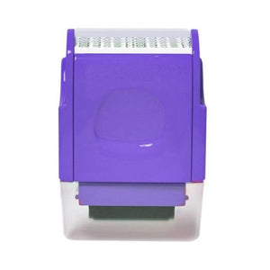 Shopedian Purple / United States Identity Theft Protection Roller Stamp