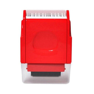 Shopedian Red / United States Identity Theft Protection Roller Stamp