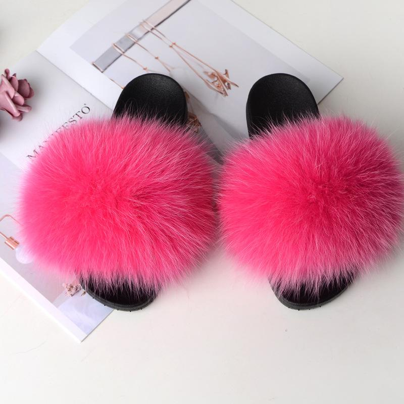 Shopedian Rose Red / 36-37 (25cm) The Gorgeous Ladies Fluffy Slides? Limited Stock!
