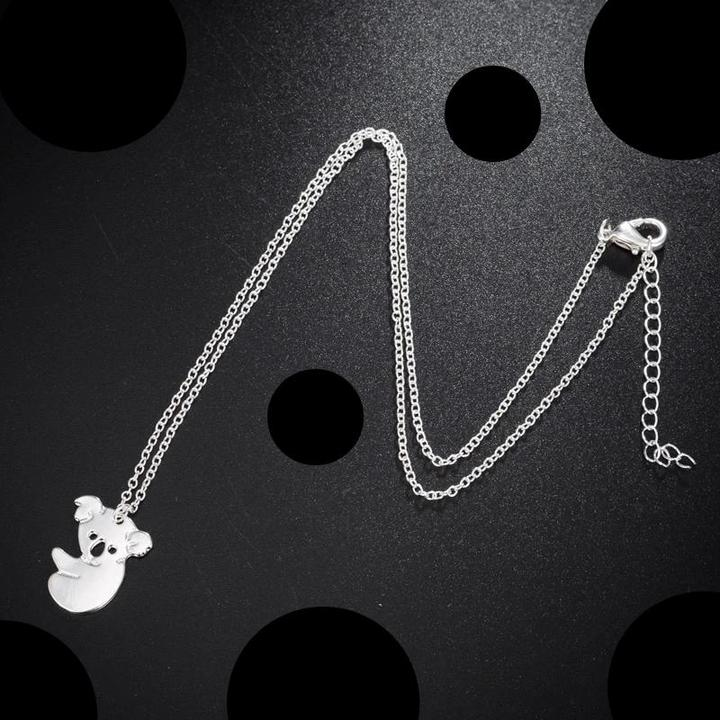 Shopedian Silver Plated Australia's Baby Koala Chain Necklaces