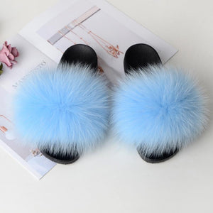 Shopedian Sky Blue / 36-37 (25cm) The Gorgeous Ladies Fluffy Slides? Limited Stock!