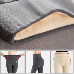 Shopedian Super Thick Cashmere Leggings - Fur Lining Thermal Leggings