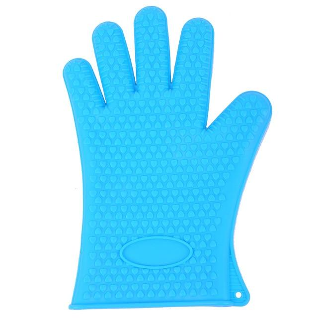 Shopedian United States / Blue Heat Resistant Grill Gloves