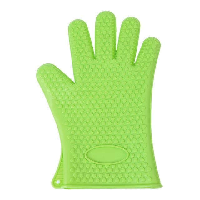 Shopedian United States / Green Heat Resistant Grill Gloves