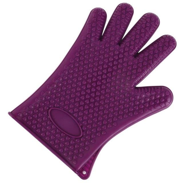 Shopedian United States / Purple Heat Resistant Grill Gloves