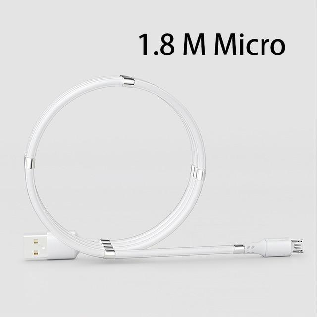 Shopedian United States / White Micro 1.8M Magnetic Charging Coil Cable
