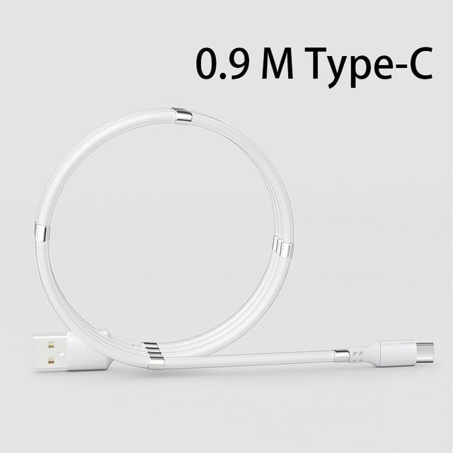 Shopedian United States / White Type-C 0.9M Magnetic Charging Coil Cable