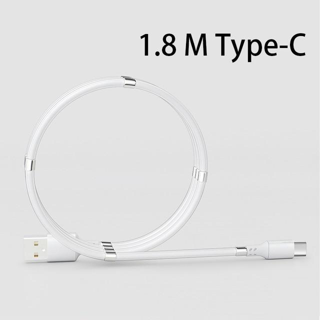 Shopedian United States / White Type-C 1.8M Magnetic Charging Coil Cable