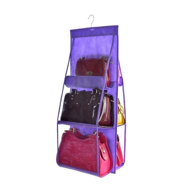 Shopedian violet / China 6 Pocket Hanging Handbag Organizer