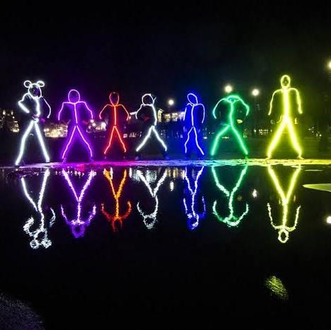 Shopedian Waterproof LED Stick Figure Costume