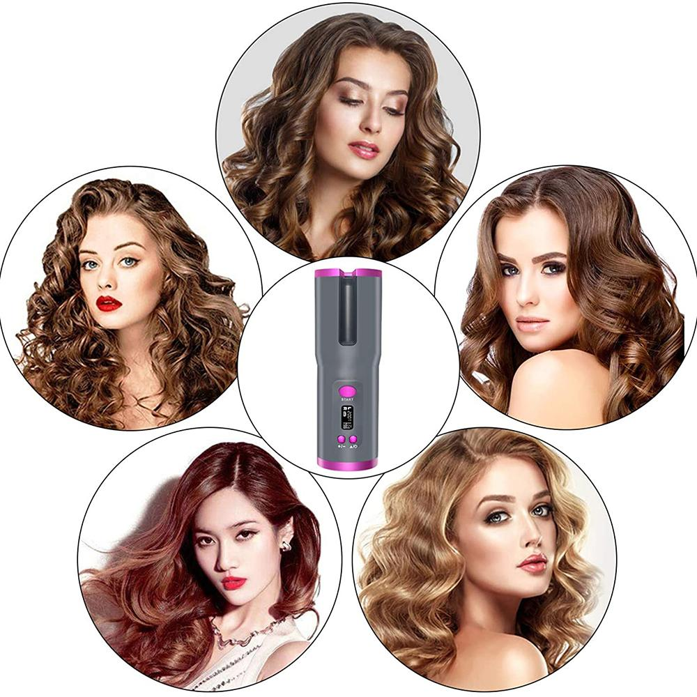 Shopedian Wireless Instant Hair Curler | USB Rechargeable | Portable and Automatic Function