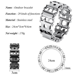 Wanjewl  29-IN-1 TOOL BRACELET     ⚡70% OFF!⚡