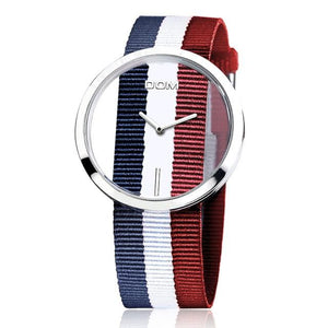 Wanjewl  Red + Blue(1) Nylon Women Unique Style Hollow Skeleton Watch