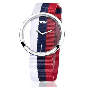 Wanjewl  Red + Blue(2) Nylon Women Unique Style Hollow Skeleton Watch