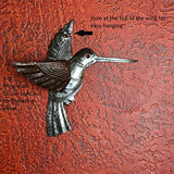 "Set of 2 Hummingbirds Haitian Recycled Metal Drum Wall Art 6"" x 5.5"""