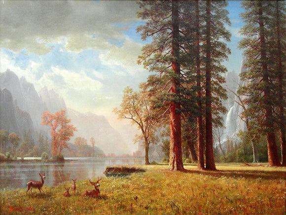 Albert Bierstadt Hetch Hetchy Valley, California