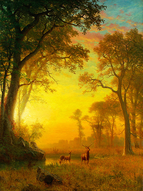 Albert Bierstadt Light in the Forest