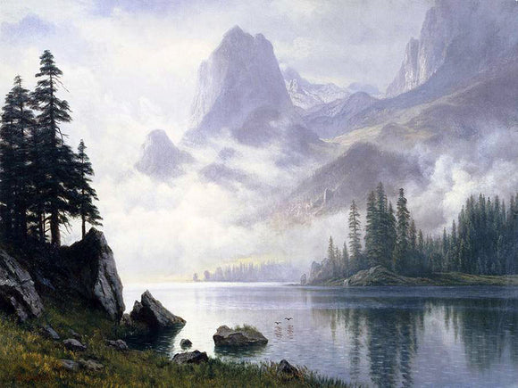 Albert Bierstadt Mountain Out of The Mist