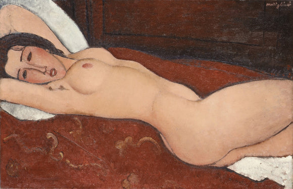 Amedeo Modigliani Reclining Nude Painting 2