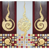 Traditional Classic Pattern Modern Contemporary Thai Art Framed