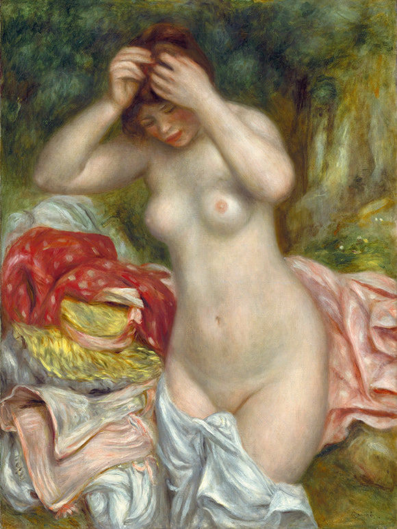 Auguste Renoir Bather Arranging Her Hair Painting