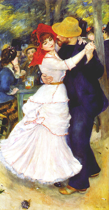 Auguste Renoir Dance at Bougival Painting